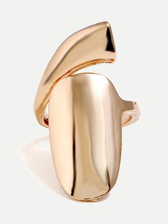 Gold Fingernail Shape Ring
