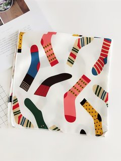 Socks Pattern White Bandana