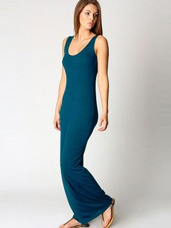 Solid Sleeveless Tank Maxi Dress