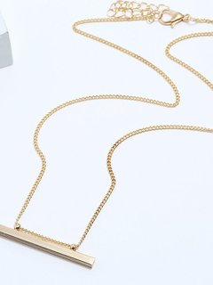 Bar Gold Chain Pendant Necklace