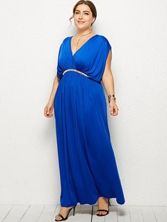 Plus Size Sexy Maxi Evening Dress
