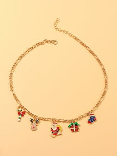 Christmas Gold Choker Necklace