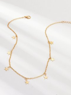 Star Choker Chain Necklace