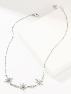 Silver Star Chain Pendant Necklace