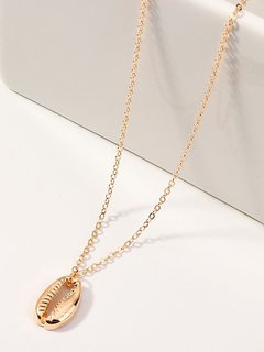 Shell Gold Pendant Necklace