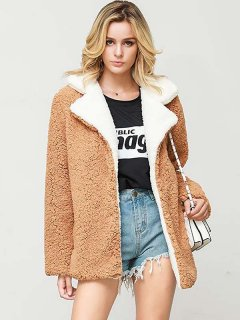 Solid Faux Fur Teddy Coat