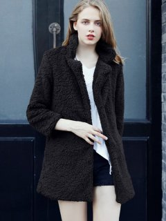 Thick Faux Fur Teddy Coat