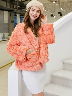 Candy Color Short Faux Fur Coat