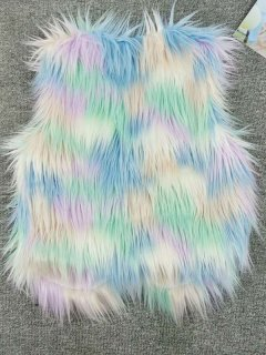 Color Block Faux Fur Vest
