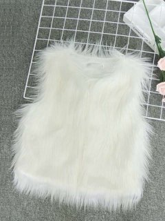 Solid Winter Faux Fur Vest
