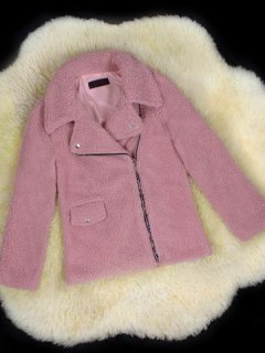 Zipper Up Faux Fur Teddy Coat