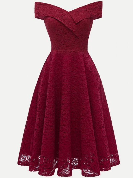 V-neck Sleeveless Vintage Party Skater Dress