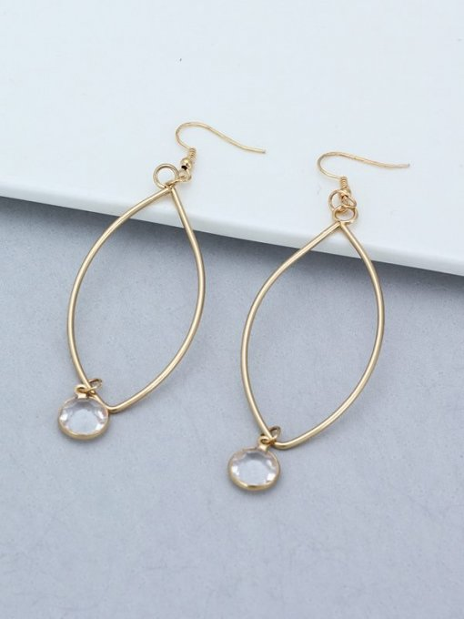 Geometric Long Gold Earrings