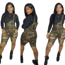 camouflage suspender trousers