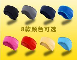 bundle sales!!!(5pcs random color,contact me what color you need )you order one shipment 5pcs- Outdoor running hair band warm fleece clear color antistatic ultra light ear guard forehead band