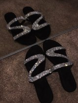 Women's Flat Rhinestone Sandals Beach Sandal Fashion Slippers Hot Sale