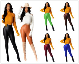 New Women's Fashion Solid Color Skinny Casual Club Sporty Long Pencil Pants