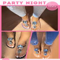 Women Summer Casual Transparent Rubber Crystal Diamond Beach Flat Shoes Sandals