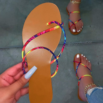Women Summer Fashion Casual Beach String Flat Shoes Sandals Slippers