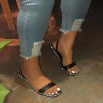Women Ladies Summer Casual Beach Rhinestones Flat Shoes Slides Sandals Slippers