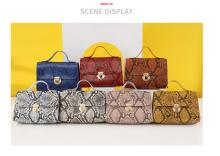 New snake pattern small square bag fashion retro one shoulder messenger handbag
