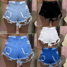 Women Hot Sale Destroyed Broken Hole Casual Club Party Denim Pants Jeans Shorts