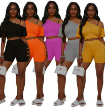 Women's two-piece fashion sports two-piece strapless