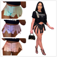 Women Fashion Summer Hot Pants Solid Color Zippers Sexy Casual Club Short Pants