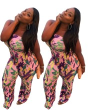 Newly Plus Size Women Strapless Camouflage Print Casual Club Fashion Jumpsuit