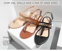 Women's new summer chain casual flat sandals