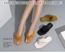 Women's comfortable flat solid color soft sandals
