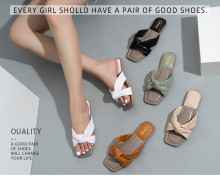 Comfortable and Fresh Bowknot Fashionable Flat Slippers