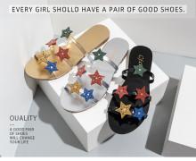 Featured star decoration flat-heeled flat slippers women
