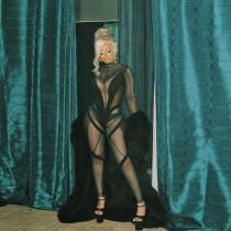 (ebay price:$24.24)Autumn women's new sexy mesh see-through stitching slim high-waist jumpsuit