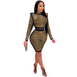 (ebay price:$33.12 )Women long sleeves rhinestones casual club party evening pants set 2pc