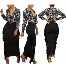 (ebay price:$20.02)Women's Ladies Fashion Solid Color Tasseled Slim Penicl Skirt Casual OL Skirts