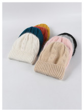 (ebay price:$13.66)Women's Mens Solid Color Consise Fall Winter Warm Knitted Hat