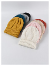 (ebay price:$13.4)Women's Mens Solid Color Consise Fall Winter Warm Knitted Hat