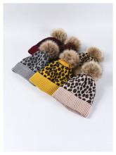 (ebay price:$12.68)Women Leopard Pattern Consise Fall Winter Warm Brushed Wollen Hat