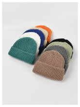 (ebay price:$11.93)Women's Mens Solid Color Consise Fall Winter Warm Knitted Hat