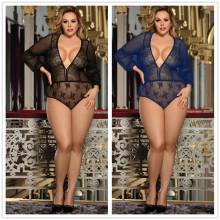 (ebay price:$19.99)Women Sexy V Neck Long Sleeve See Through Club Lingerie Bodysuit Nightwear