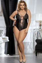 (ebay price:$18.98)Women Sexy Adjustable Strap Deep V Neck See Through Backless Bodysuit Lingerie