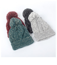 (ebay price:$14.63)Women's Mens Pure Color Ball Consise Fall Winter Warm Knitted Hat