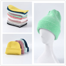 (ebay price:$14.2)Women's Mens Pure Color Consise Fall Winter Warm Knitted Hat