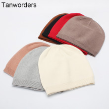 (ebay price:$13.15)Women's Mens Pure Color Consise Fall Winter Warm Knitted Hat