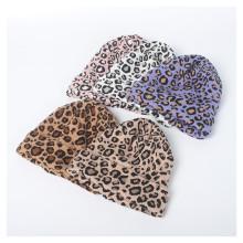 (ebay price:$12.74)Women's Mens Leopard Print Consise Fall Winter Warm Wollen Hat