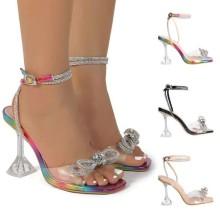 (ebay price:$32.84)Women's ladies fashion casual bowknot high heels sandals