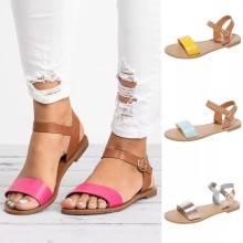 (ebay price:$23.64)Women's ladies fashion casual color block platform slippers sandals
