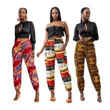 (ebay price:$26.07)Women Fashion Printed Pockets Long Pants Casual Pants
