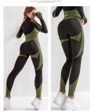 (Super high quality) Women high elasticity slim fitness yoga sports suit